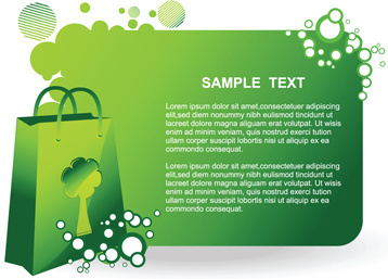 elements of green ecologic elements vector set
