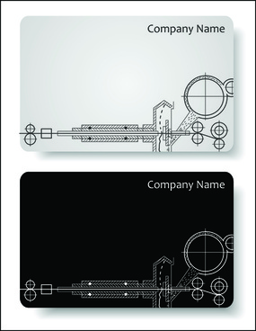 elements of hand drawn visiting card vector
