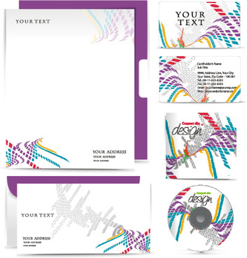 elements of identity kit cover vector