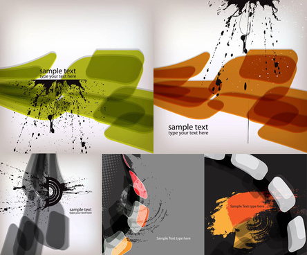elements of ink splash background
