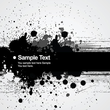 elements of ink splash background vector set