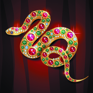 elements of jewelry with animal vector backgrounds