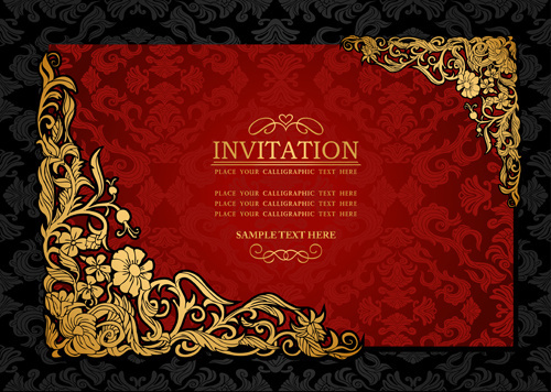 Invitation background designs free vector download 46184 Free
