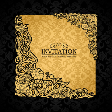 elements of luxury invitation background vector