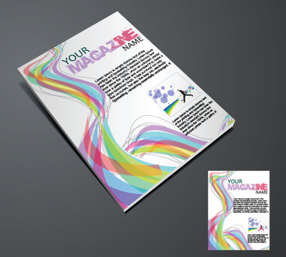 elements of magazine cover design vector
