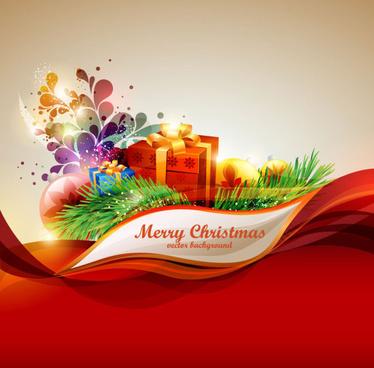 elements of merry christmas design vector art