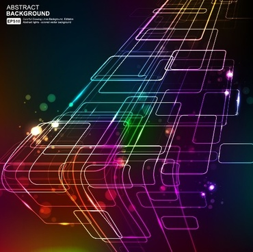 elements of neon abstract vector backgrounds