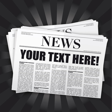 elements of newspaper design vector graphics