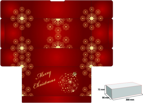 elements of plans gift box design vector
