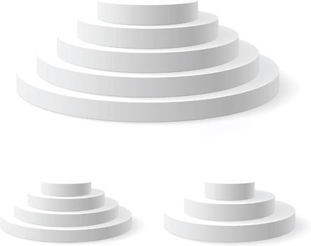 elements of podium background design vector