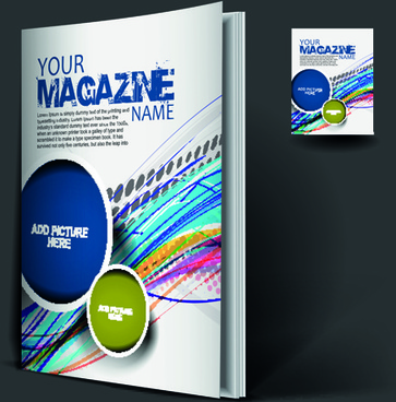 elements of poster and magazine cover design vector