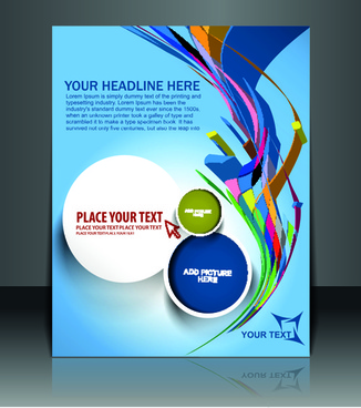 School Magazine Cover Page Design Free Vector Download