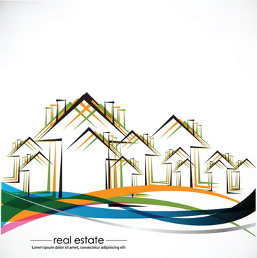 elements of real estate design vector