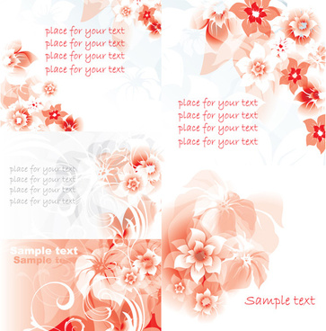 elements of red decorative pattern background vector