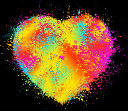 elements of romantic heart vector