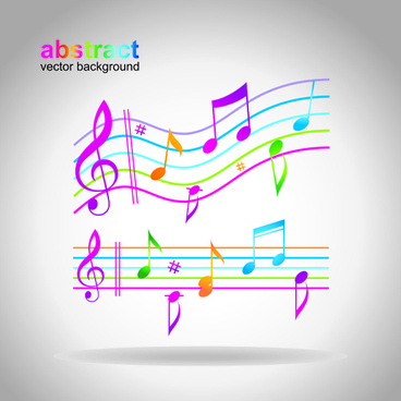 elements of sheet music and music design vector