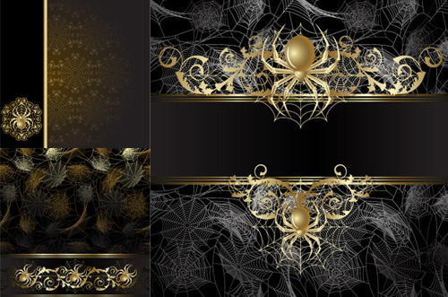 elements of spider backgrounds design vector