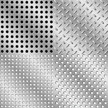 elements of steel backgrounds vector set