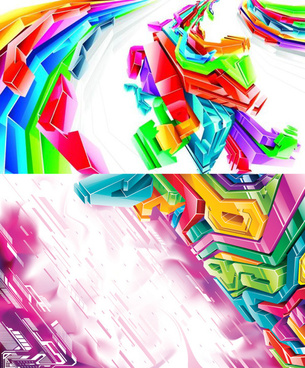 elements of stereo module combination background design vector