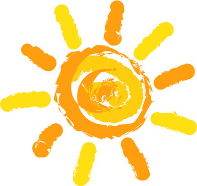 elements of summer sun vector art