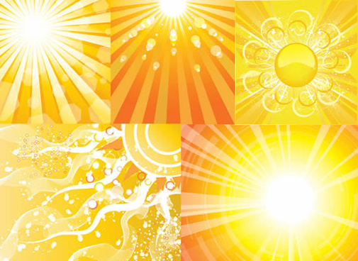 elements of sun ray of light beam backgrounds art