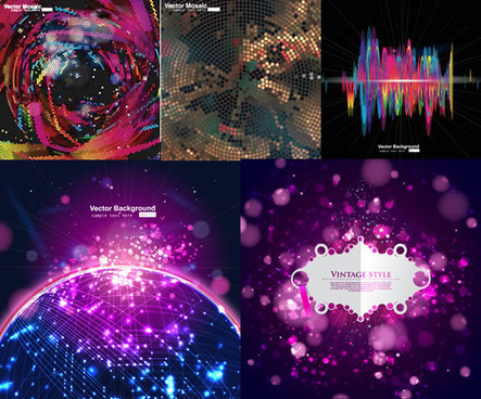 elements of technology of 3 dimensional background