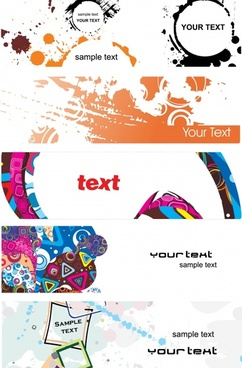 elements of the trend vector banner ink