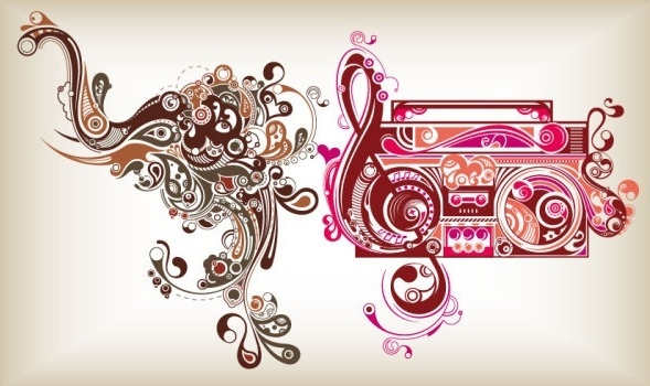 elements of the trend vector graphic