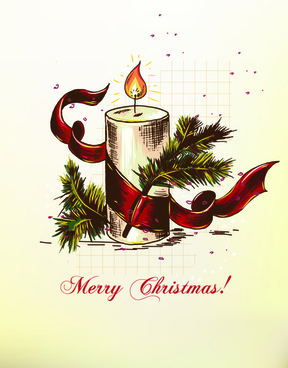 elements of vintage christmas design vector graphics