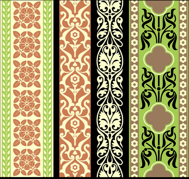 elements of vintage frames pattern vector