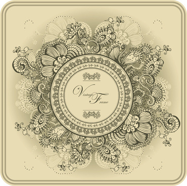 elements of vintage style vector backgrounds