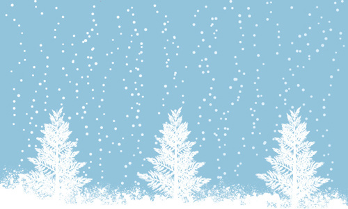 Elements of winter with snow backgrounds vector