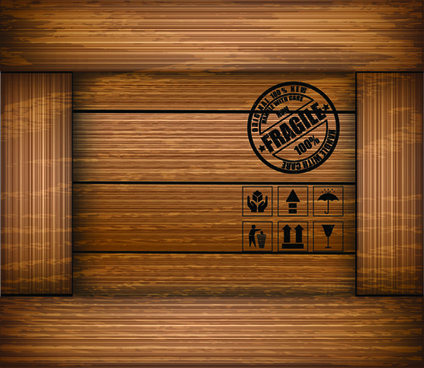 elements of wooden box pattern backgrounds vector