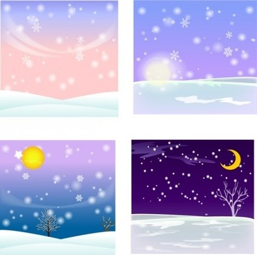 elements ofsnow background design elements
