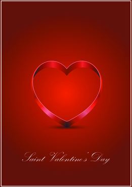 elements romantic red valentine cards vector