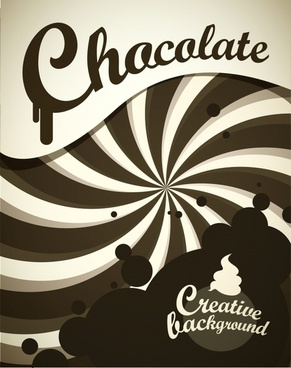 chocolate cream background dark motion design