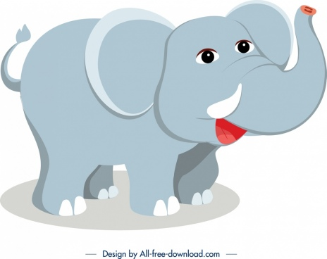elephant animal icon cute cartoon design