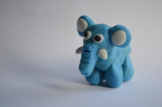 elephant from plasticine