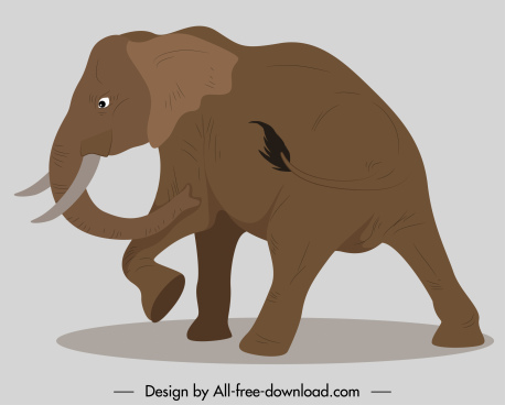elephant painting motion sketch classic handdrawn cartoon