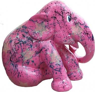 elephant parade trier pink elephant art