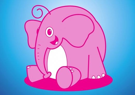 Elephant Vector Cartoon