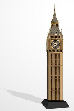 elizabeth tower big ben design vector