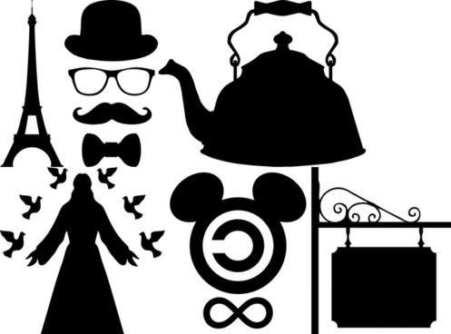 emblem silhouettes collection vector illustration