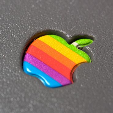 embossed apple logo