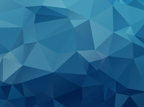 embossment triangular blue background vector