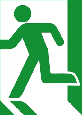 Emergency Exit Sign clip art