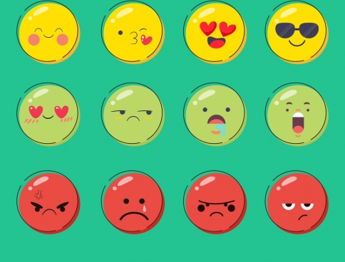 emoticon background cute circle faces decor