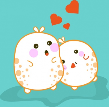 emoticon icons cute cartoon romantic couple decoration