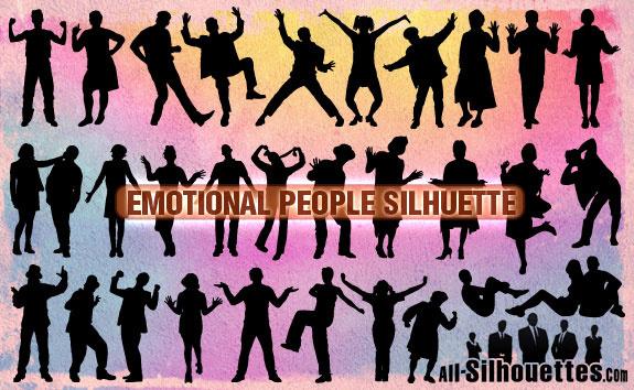 emotional people silhouette