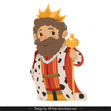 emperor icon cartoon character design